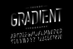 Modern Gradient font Royalty Free Stock Photo