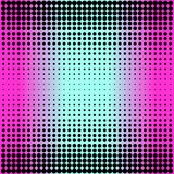 Modern gradient pink to neon blue background with dots in 80s 90s style Stock Photos