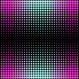 Modern gradient pink to neon blue background with dots in 80s 90s style Stock Images