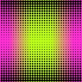 Modern gradient pink to neon green background with dots in 80s 90s style. For your decoration Stock Photography