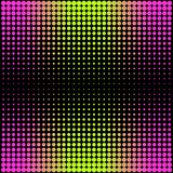 Modern gradient pink to neon green background with dots in 80s 90s style Royalty Free Stock Photography