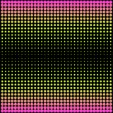 Modern gradient pink to neon green background with dots in 80s 90s style Stock Image