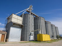 Modern grain silos Royalty Free Stock Photo