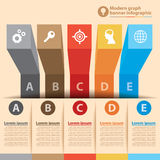 Modern graph banner infographic Royalty Free Stock Images