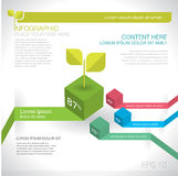 Modern graph design or infographic design template for business Royalty Free Stock Photography