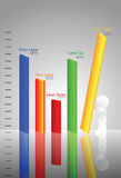 Modern Graph on target  Stock Photo