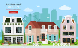 Modern graphic architectural design. Royalty Free Stock Image