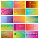 Modern graphic business cards Stock Photos