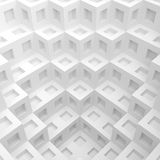 Modern Graphic Design. 3d White Cube Background. Modern Graphic Design Royalty Free Stock Images