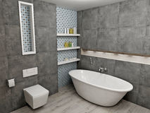 Modern gray bathroom Royalty Free Stock Images