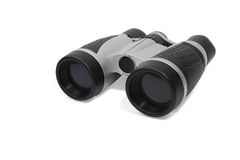 Modern gray-black binoculars Royalty Free Stock Photography