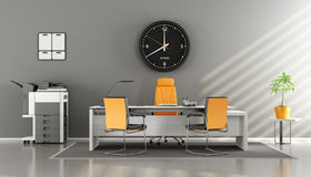 Modern gray and orange office Royalty Free Stock Photos