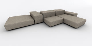 Modern gray sofa Stock Illustration