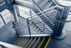 Modern gray stair outside of buildings Stock Images