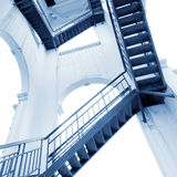 Modern gray stair outside of buildings Royalty Free Stock Photos