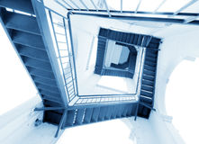 Modern gray stair outside of buildings Royalty Free Stock Image