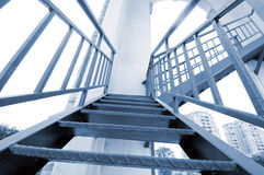 Modern gray stair outside of buildings Stock Photos