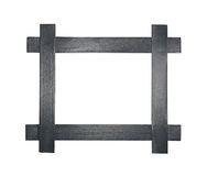 Modern gray wooden picture or photo frame Royalty Free Stock Images