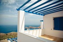Modern Greek House Royalty Free Stock Photo