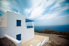 Modern Greek House Stock Photo