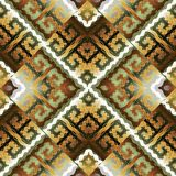 Modern greek key meanders seamless pattern. Vector geometric bac. Kground. Ornate wallpapers design. Tracery abstract ornaments. Gold 3d ornamental meander Stock Photography
