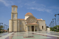 Modern Greek Orthodox church Stock Images