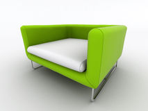 Modern green armchair Stock Photography
