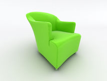 Modern green armchair Stock Photo
