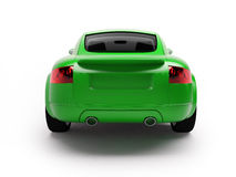 Modern green car back view Royalty Free Stock Images