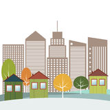Modern Green City Concept Stock Image