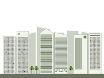 Modern Green City, Think Green Concept Stock Image
