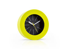 Modern green clock Royalty Free Stock Image
