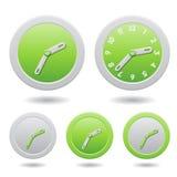 Modern Green Clocks  on White Royalty Free Stock Photo