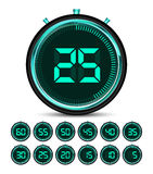 Modern green digital timer Stock Photography