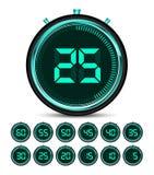 Modern green digital timer Stock Photography