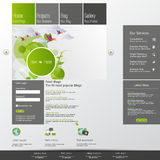 Modern green eco website Royalty Free Stock Photo