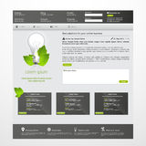 Modern green eco website Royalty Free Stock Images