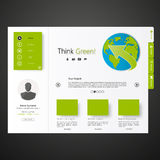 Modern green eco website Stock Image