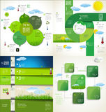 Modern green ecology Design Layout Stock Images