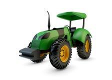 Modern green farm tractor  Stock Photos