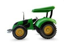 Modern green farm tractor  Stock Photo