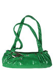 Modern green female bag Royalty Free Stock Photography