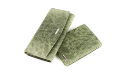 Modern green female wallets Royalty Free Stock Photography