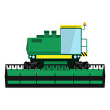Modern green harvester Royalty Free Stock Image