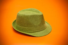 Modern green hat Stock Image