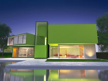 Modern green house Stock Image
