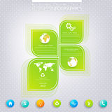 Modern green infographic design with place for Royalty Free Stock Image