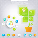 Modern green infographic design with place for Stock Photo