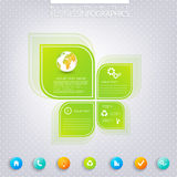Modern green infographic design with place for Royalty Free Stock Images