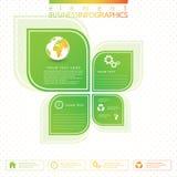 Modern green infographic design. Vector Stock Photo